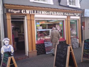 Williams & Sons the only remaining local butcher on Bangor High Street