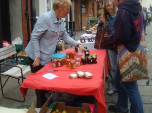 Jenny with her Dwyran honey....selling very well!