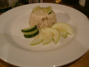 Smoked mackerel pate, with crisp lime steeped Granny Smith apple