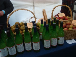 Apple juice and local apples
