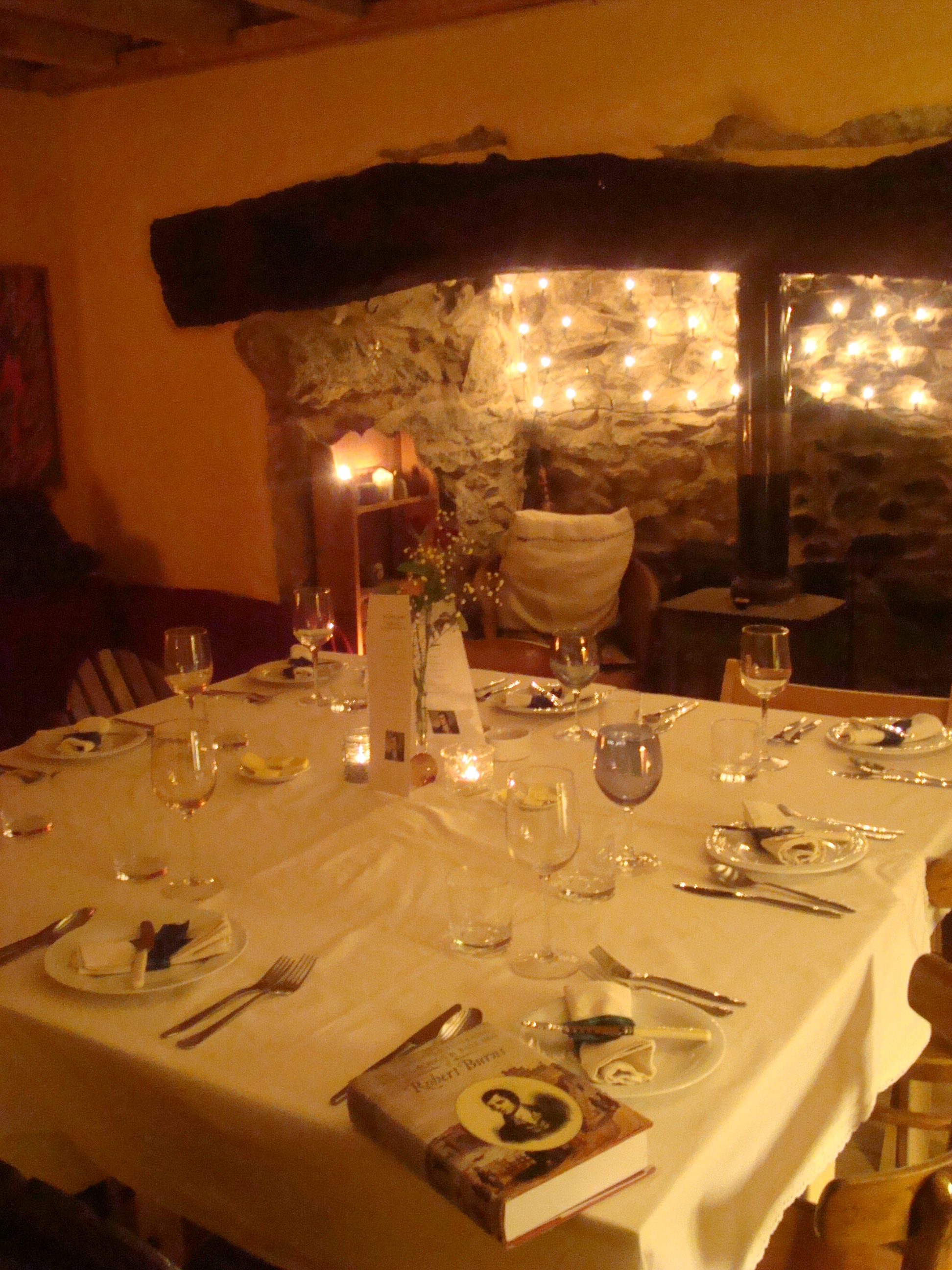 Burns night table setting & Burns night | Moel Faban Suppers