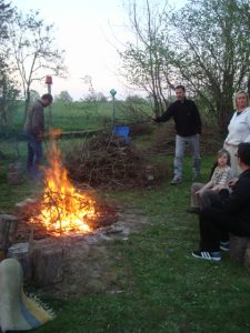 traditional Easter bonfire...they seem to have them everywhere!