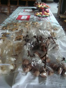 fudge, meringues, macaroons and gingerbread