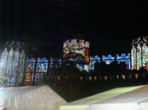 Blinc: projections on Conwy Castle