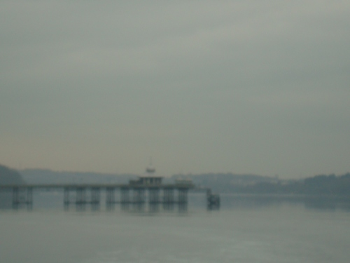 Bangor pier in the mist
