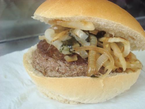 Aran lamb burger