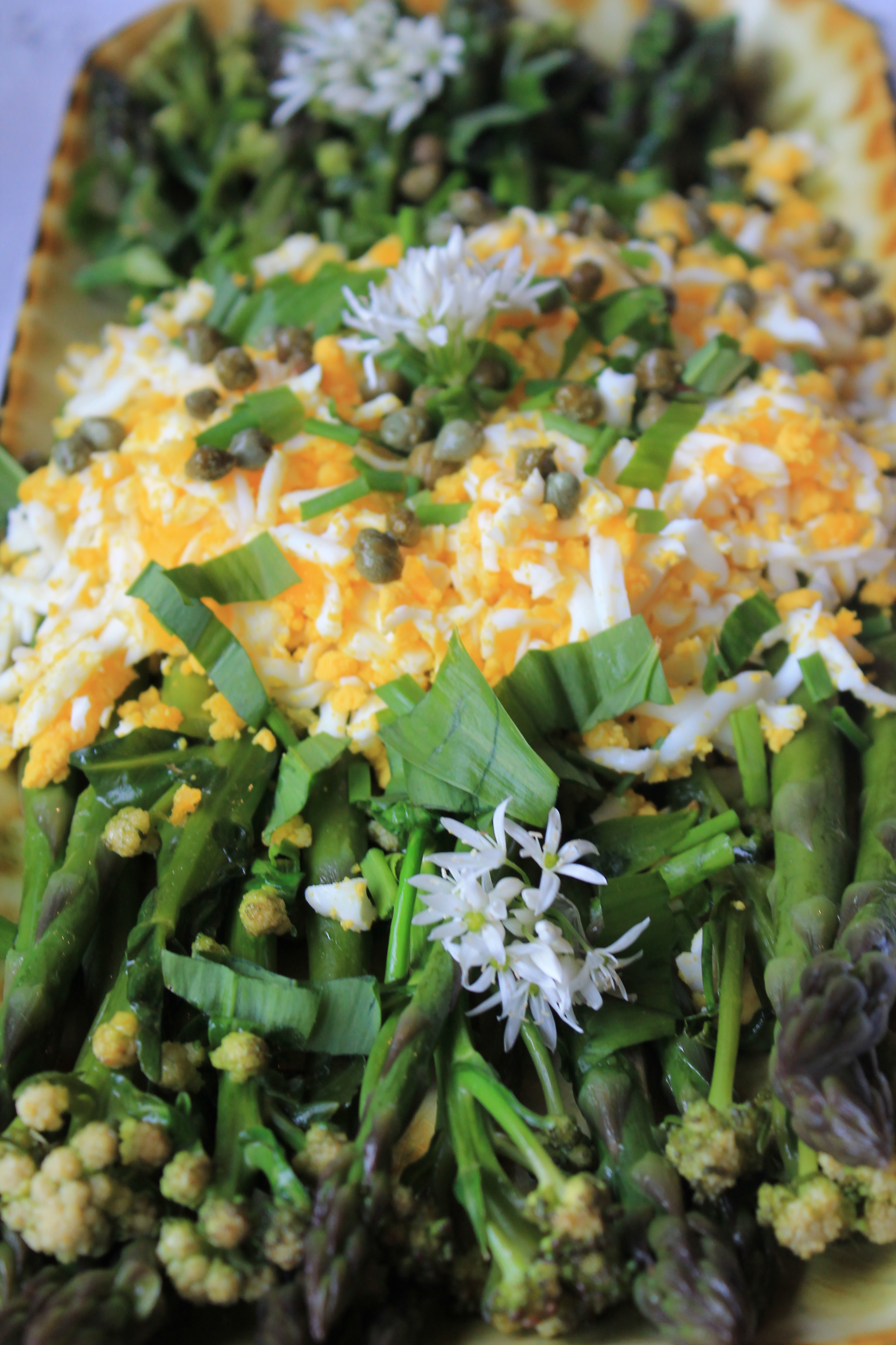 asparagus mimosa | Moel Faban Suppers