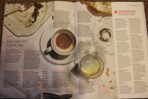 Guardian article on starting a supper club and top 5 supper clubs in the UK